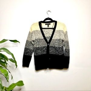 Forever 21 Knitted Cardigan Black & Beige